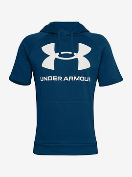 Rival Fic Big Logo Mikina Under Armour Modrá