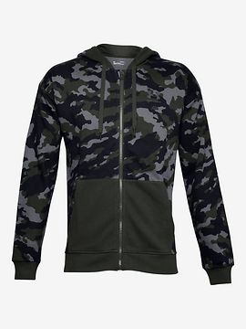 Rival Fleece Camo Mikina Under Armour Zelená