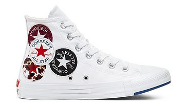 Converse Logo Play Chuck Taylor All Star High Top bílé 166735C
