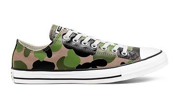 Converse Archival Camo Chuck Taylor All Star High Low Shoe zelené 166715C