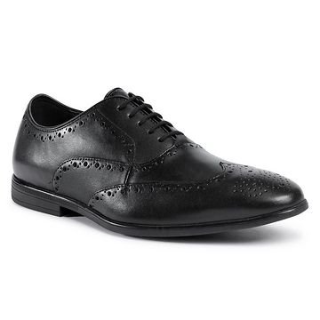 Polobotky CLARKS - Bampton Rhodes 261521117  Black Leather