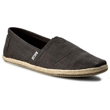 Espadrilky TOMS - Classic 10008356 Black Linen Rope Sole