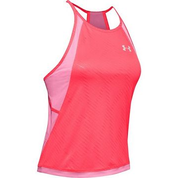Under Armour W UA Qualifier ISO-CHILL Embossed Tank-P