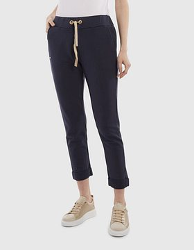 Tepláky La Martina Woman Cotton Fleece Pant - Modrá - 3