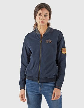 Mikina La Martina Woman Fleece Full Zip - Modrá - 3