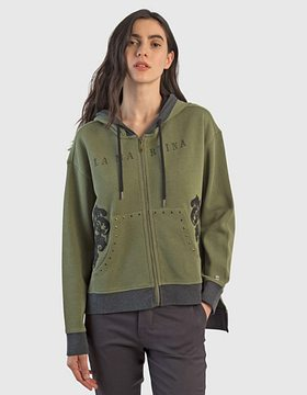 Mikina La Martina Woman Fisherman Fleece Full Zi - Zelená - 3