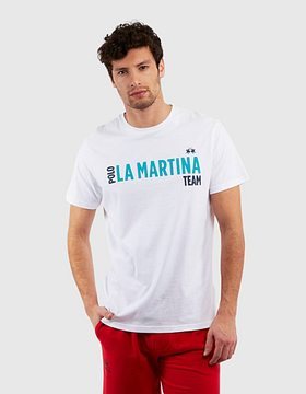 Tričko La Martina Man Cotton Jersey S/S T-Shirt - Bílá - Xl