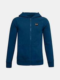 Modrá mikina Under Armour UA RIVAL FLEECE FZ HOODIE