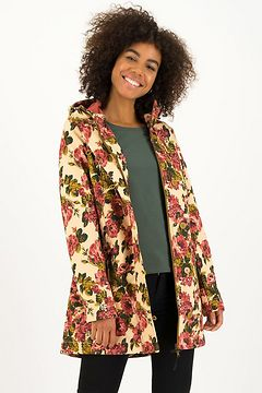 Blutsgeschwister květovaná softshellová parka Wild Weather Long Anorak Rose Tapestry