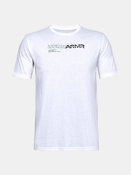 Tričko Under Armour UA UNDR ARMR WORDMARK TEE - bílá