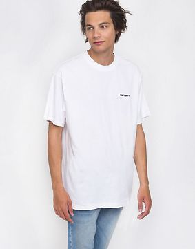 Carhartt WIP Script Embroidery T-Shirt White/Black S