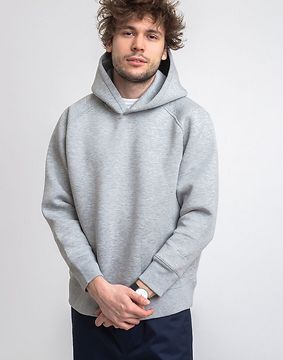 M.C.Overalls Bonded Jersey Pullover Hoody Light Grey M