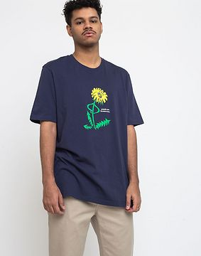 Lazy Oaf Weeds Are Flowers Too T-shirt Navy XL