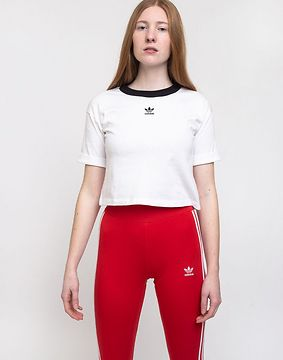 adidas Originals Crop Top White/Black 34