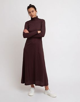 Jan 'N June Turtleneck Dress Rory Mocca L