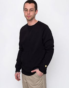 Carhartt WIP Chase Sweat Black / Gold L