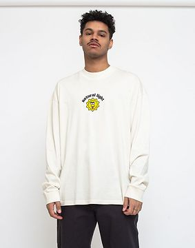 Lazy Oaf Natural Light Long Sleeve T-shirt Off-White L