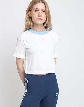 adidas Originals Crop Top White/Clear Sky 34