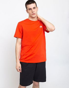 The North Face Simple Dome Tee Fiery Red L