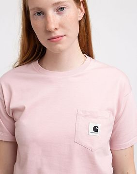 Carhartt WIP W' S/S Carrie Pocket T-Shirt Frosted Pink L