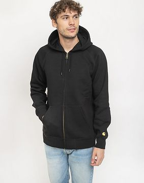 Carhartt WIP Hooded Chase Jacket Black/Gold L