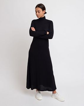 Jan 'N June Turtleneck Dress Rory Black XS