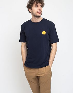 Loreak Dot Text Hvy Slub A-navy XXL