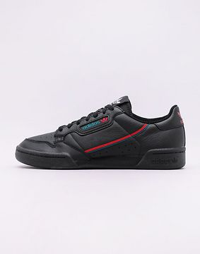 adidas Originals Continental 80 Core Black / Scarlet / Collegiate Green 46