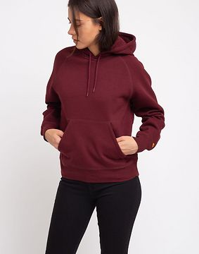 Carhartt WIP W' Hooded Chase Sweat Bordeaux/Gold M