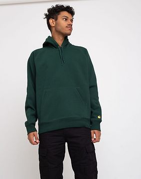 Carhartt WIP Hooded Chase Sweat Bottle Green/Gold L