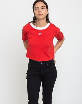 adidas Originals Crop Top Lush Red/White 40