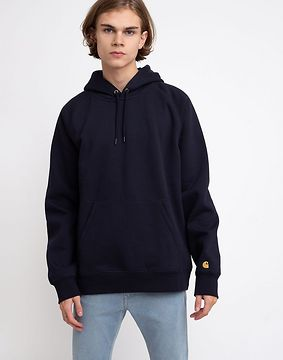 Carhartt WIP Hooded Chase Sweat Dark Navy/Gold M